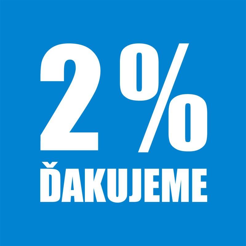 Venujte 2% z dane